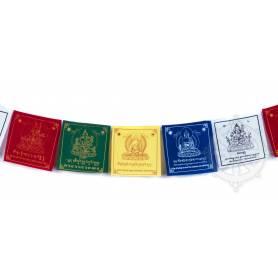 Drapeaux à prières DÉITÉS - Taille M - Coton haute qualité