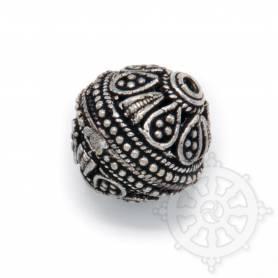 Perle en métal pour collier ou bracelet