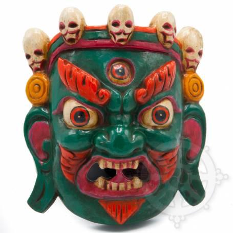 Tibetan Protective masks - Green Mahakala - Art of Nepal