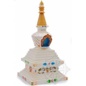 Splendide stupa en bois peint pour votre autel