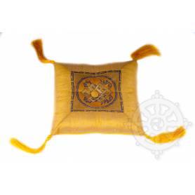 Somptueux coussin de bol  (l. 17 x l. 17cm, Jaune)