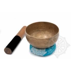 Bol chantant 7 métaux - 14cm - 565gr. - D sharp/Ré dièse - 225 Hz en provenance de Patan (Népal)