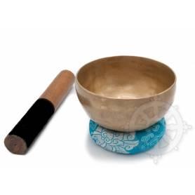 Bol chantant 7 métaux - 14cm - 590gr. - E/Mi - 335 Hz en provenance de Patan (Népal)
