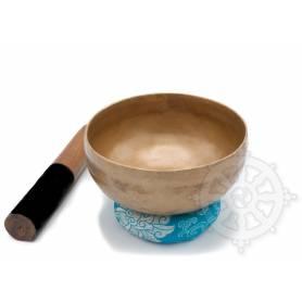 Bol chantant 7 métaux - 16cm - 685gr. - E/Mi - 165 Hz en provenance de Patan (Népal)
