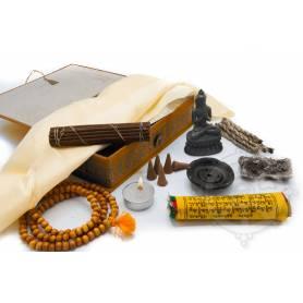 Coffret Cadeau - Autel itinérant - Yeux de Bouddha