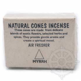 Senteur Myrrhe CÔNE NATUREL étui de 25 cones - 55gr.