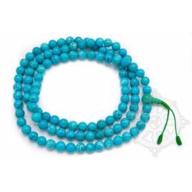 Malas de 108 perles en vraie turquoise naturelle (8mm)