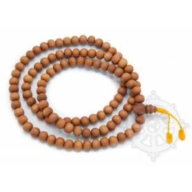 Malas de 108 perles en bois de santal (grosses perles - 9mm)