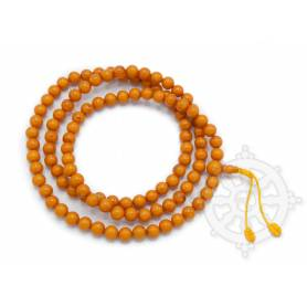 Malas de 108 perles en couleurs ambre (8mm)