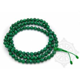 Malas de 108 perles en malachite (8mm)