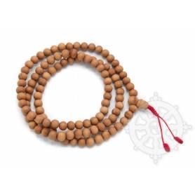Malas de 108 perles en bois de santal  (8mm)