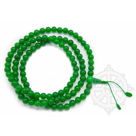 Malas de 108 perles en jade d'Inde (8mm)