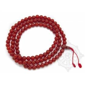 Malas de 108 perles en cornaline  (8mm)