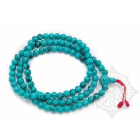 Malas de 108 perles en turquoise - amalgame (8mm)