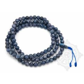 Malas de 108 perles en tourmaline bleue (8mm)