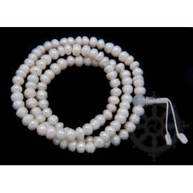 Malas de 108 perles en vraies perles - nacre (8mm)