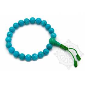 Malas pour poignet en vraie turquoise naturelle (8mm)