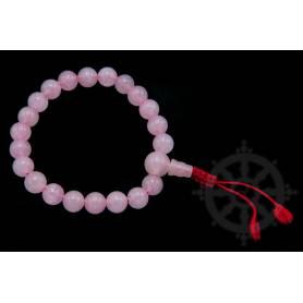 Malas pour poignet en quartz rose (8mm)