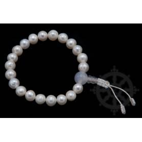 Malas pour poignet en vraies perles (nacre) (8mm)