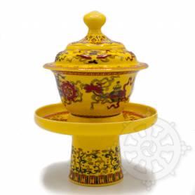 Tasse à thé tibétaine pour Lama