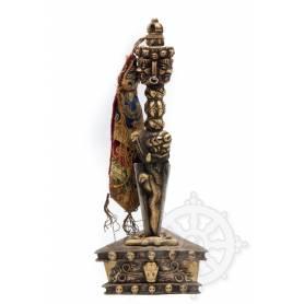 Pièce unique! Ancien phurba avec socle (bronze)