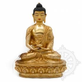 Pièce UNIQUE! Statue de Bouddha Amitabha(H. 20 cm-Statues plaquées or 24k)