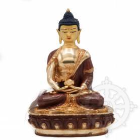 Très belle statue de Bouddha Amitabha(H. 20 cm-Statues plaquées or 24k (partiel))