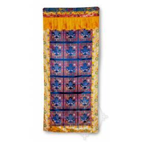 Rideau de porte Noeud de l'infini (Brocart de soie brodé, H. 190cm x l. 90cm)