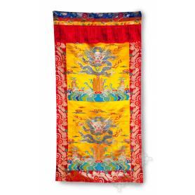Rideau de porte Dragon (Brocart de soie brodé, H. 190cm x l. 90cm)