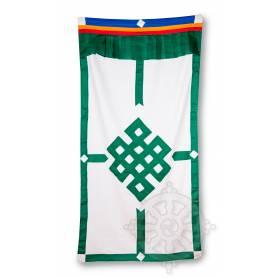 Rideau de porte avec Nœud Infini Vert (Coton, H. 185cm x l. 93cm)