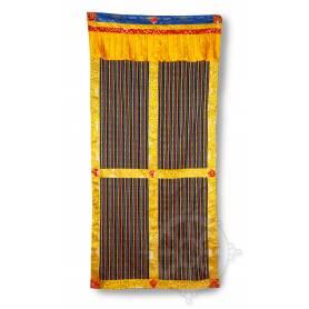 Original rideau de porte bhoutanais jaune (Coton, H. 195cm x l. 95cm)