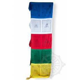 Drapeaux à prières - VERTICAL - Coton haute qualité(H.2,5m x l. 1m)