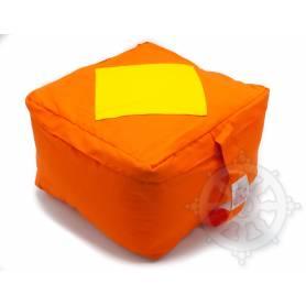 Coussins CARRÉS QUALITÉ SUP. (H. 20 x l. 30 x L. 30 cm, Orange avec losange jaune)