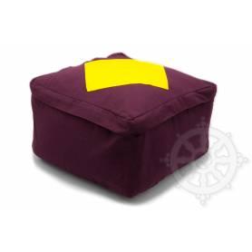 Coussins CARRÉS QUALITÉ SUP. (H. 20 x l. 30 x L. 30 cm, Violet avec losange jaune)