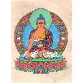 Cartes postales BOUDDHA SHAKYAMUNI en Papier lokta