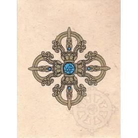 Cartes postales DOUBLE DORJÉ en Papier lokta