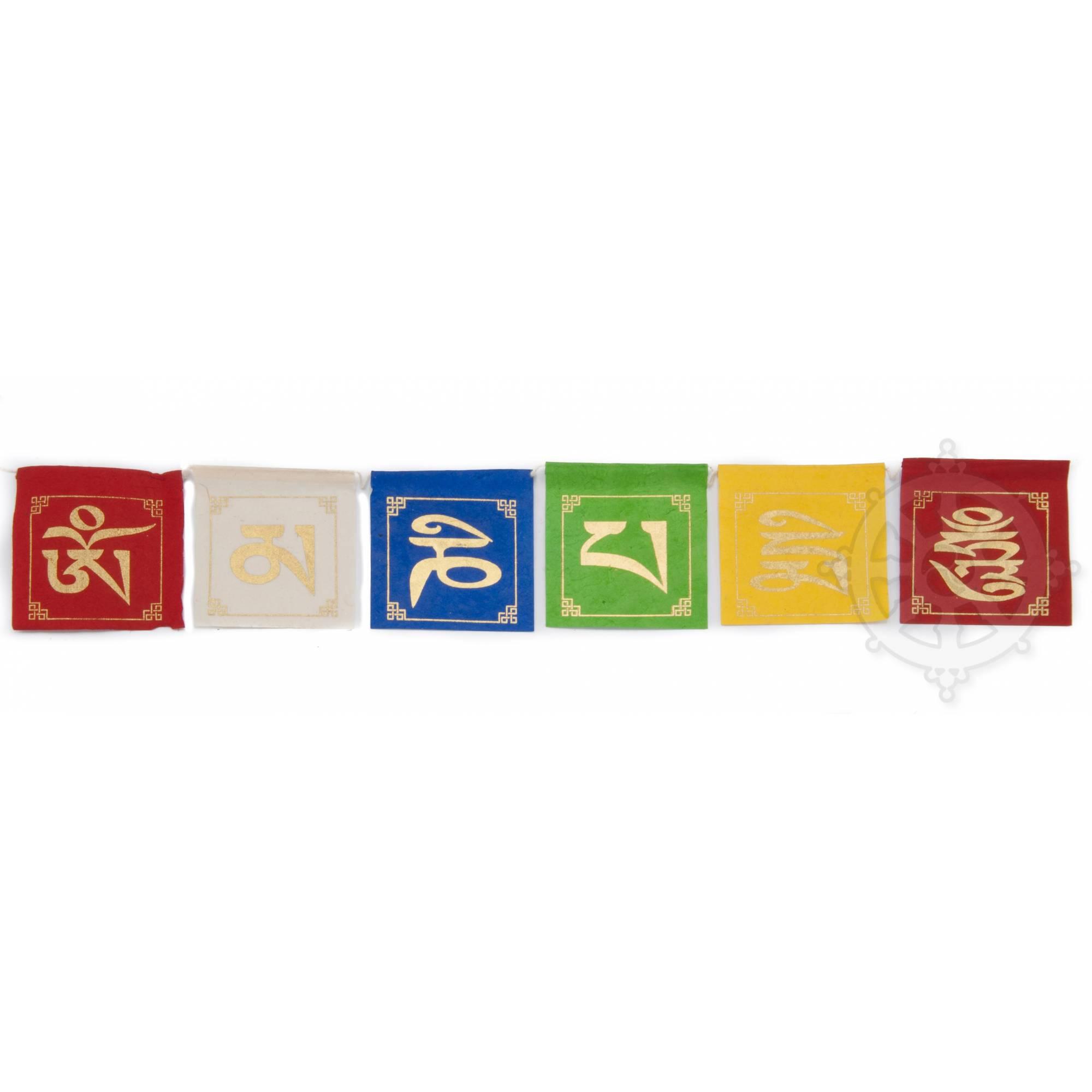 Tibetan prayers flags in paper - Lokta paper - AUSPICIOUS SYMBOLS - Art of  Nepal