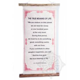 Rouleaux - Citations du Dalai Lama THE TRUE MEANING OF LIFE en Papier lokta