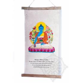 Rouleaux - Divinités bouddhiques BOUDDHA SANGYE MENLA en Papier lokta