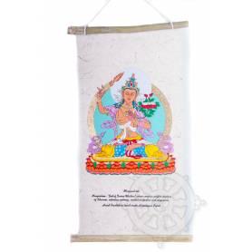 Rouleaux - Divinités bouddhiques MANJUSHRI en Papier lokta