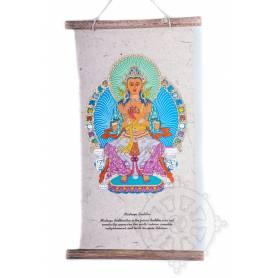Rouleaux - Divinités bouddhiques BOUDDHA MAITREYA en Papier lokta