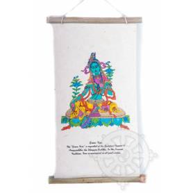 Rouleaux - Divinités bouddhiques TARA VERTE  en Papier lokta