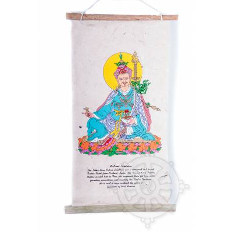 Rouleaux - Divinités bouddhiques GURU RINPOCHÉ en Papier lokta