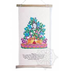 Rouleaux - Divinités bouddhiques TARA BLANCHE en Papier lokta