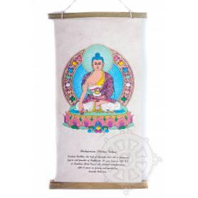 Rouleaux - Divinités bouddhiques BOUDDHA SHAKYAMUNI en Papier lokta