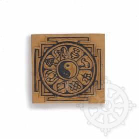 Tampon - Mandala - Signes auspicieux