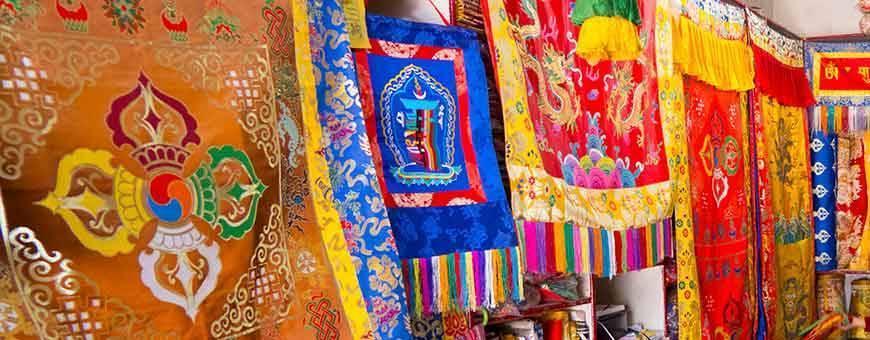 Tibetische und bhutanesische Stoffe & Brokatstoffe