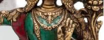 Statues Laiton incrusté de pierres pour les pratiques de visualisation, bouddhisme, rituel, deite, 2019