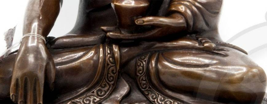 Copper statues for visualization practices, Buddhism, ritual, deity