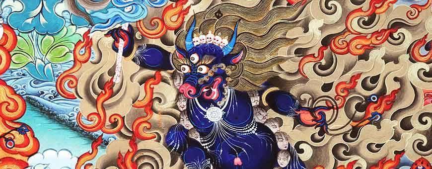 Thangka, Thanka, pintura de deidades / divinidades para las prácticas de visualización, budismo, ritual, deidad, 2019